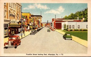 Pennsylvania Aliquippa Franklin Street Looking East 1945 Dexter Press