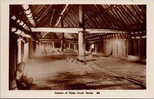 Fijian Guest House Fiji Caine Series Suva Unused Real Photo Postcard G33