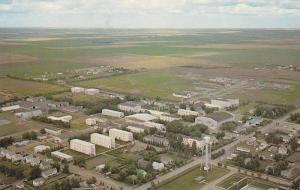 Air view of the Prairie Bible Institute,  Three Hills,  Alberta,  Canada,  40...