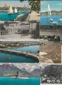 Switzerland Zurich Lausanne Geneve And More Postcard Lot of 21 01.05