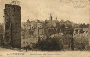 CPA Luxembourg Ruine de l'enceinte (30655)
