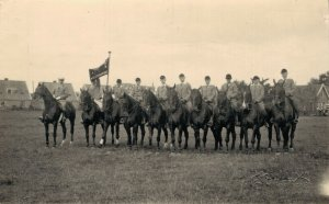 Horsesports Real Photo Group Of Riders 1927 04.00