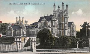 The Boys High School, Dunedin, New Zealand, Early Postcard, Used