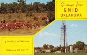 Oklahoma Enid Greetings From Enid 1962