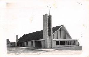 Kewaunee Wisconsin~Holy Rosary Catholic Church~1965 Real Photo Postcard~RPPC