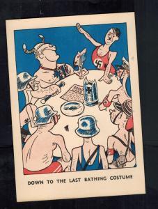 Mint WW2 England  Postcard Down to Last Bathing Costume