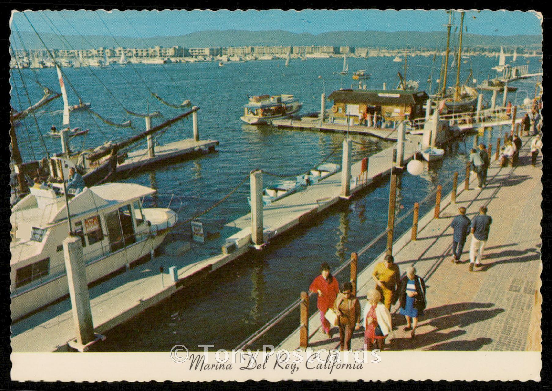 Marina del rey fisherman 39 s village hippostcard for Marina del rey fishing