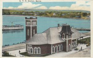 BARRIE , Ontario , Canada , 1910 ; Grand Trunk Railway Station Version-2