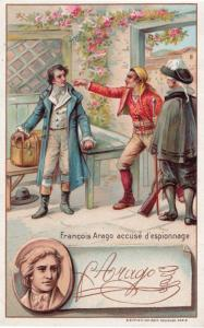 Francois Arago Freemason Old Printed Signed Bendorps Cocoa Postcard Trade Card