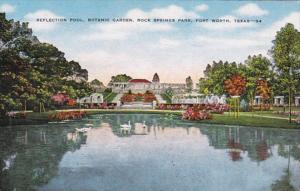 Texas Fort Worth Reflection Pool Botanic Garden Rock Springs Park