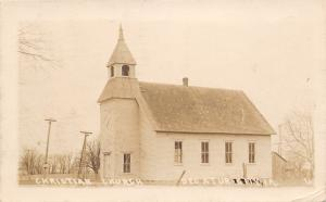 Decatur Iowa~Christian Church~Country Barn~Nothing But Bible Work~1915 RPPC