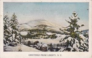 New York Liberty Greetings From Liberty 1933
