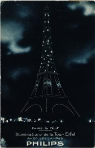 CPA PARIS 7e-Paris la nuit-Illuminations de la Tour Eiffel (328022)