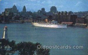 Montreal, P.Q., Canada Ocean Liner, Ocean Liners, Oceanliner Ship Ships Postc...