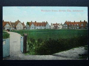 Hertfordshire LETCHWORTH GARDEN CITY Westholm Green c1909 Postcard by Valentine