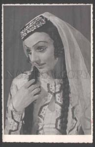 109479 DUDINSKAYA Russian BALLET Star DANCER old REAL PHOTO
