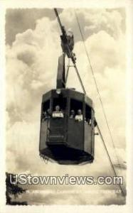 Real Photo - Cannon Mt Aerial Tramway White Mountains NH 1940