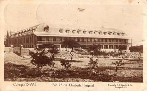 Curacao D.W.I. birds eye view Elisabeth Hospital real photo pc ZA440560