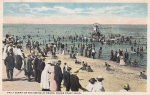 CEDAR POINT, Ohio, 1912; Daily Scene on Sea Swing at Beach