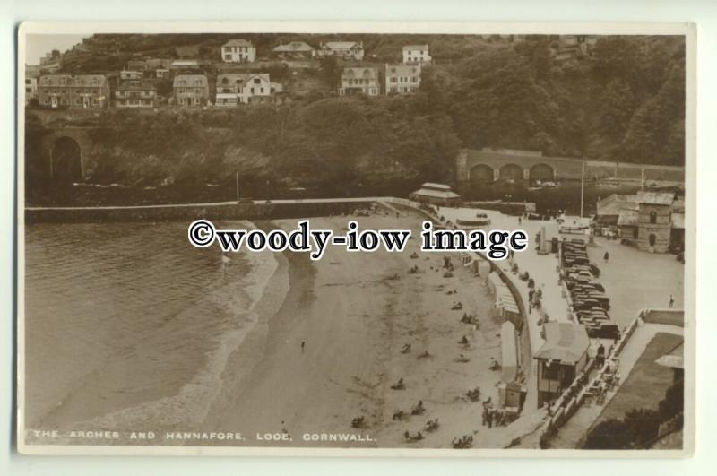 tp9887 - Cornwall -  The Arches and Hannafore's Sandy Beach, at Looe - postcard