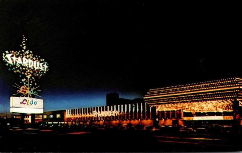 Nevada Las Vegas Stardust Hotel At Night