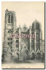 Old Postcard Bourges Cathedrale