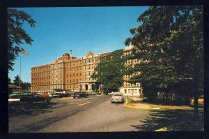 Newton, Massachusetts/Mass/MA Postcard, Newton-Wellesley Hospital, 1950's Cars