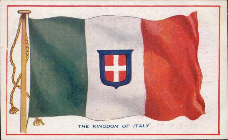 The kingdom of Italy patriotic flag Shepherds advertise