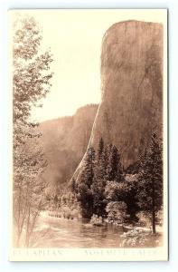 Postcard CA Yosemite Valley El Capitan RPPC Real Photo G15