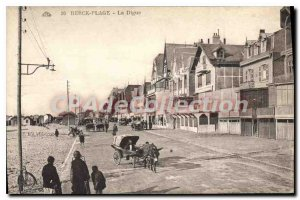 Old Postcard Berck Plage la Digue