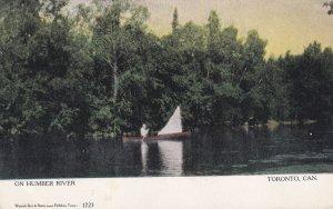 TORONTO, Ontario, Canada, 1900-1910s; On Humber River, Boat