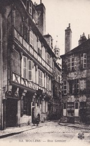 Moulins Allier Maison du XV s Rue Grenier French Old Postcard
