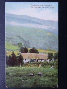 Rural Life I REMEMBER THE FIR TREES DARK & HIGH Poet Thomas Hood - Old Postcard