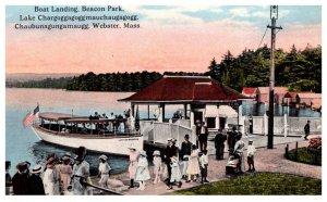 Massachusetts  Webster Lake , Boat landing