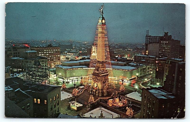 postcard in indianapolis worlds largest christmas tree c31 - Worlds Largest Christmas Tree