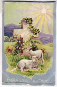 Easter Joys Be Thine - Sheep & Cross