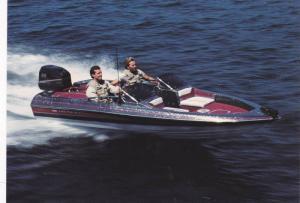 Boat ad, Maxum boat company, Washington, USA, 50-70s ; Model, Quantum 1700/XB