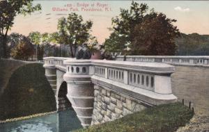 PROVIDENCE , Rhode Island , 1909 ; Bridge , Roger Williams Park
