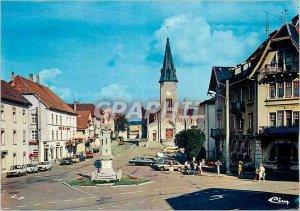 Postcard Modern Charquemont (Doubs) Place de Ville Hotel