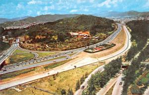 Venezuela Old Vintage Antique Post Card East Highway Junction Caracas Unused