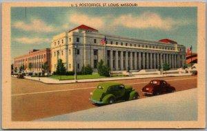 1940s St. Louis, Missouri Postcard U.S. Post Office Building View Linen Unused