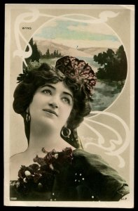 French opera singer, Charlotte Wyns. Early real photo postcard. Circa 1907