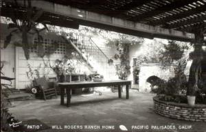 Pacific Palisades CA Will Rogers Ranch Home Real Photo Postcard #2