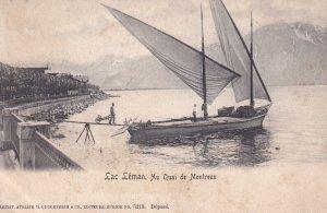 MONTREUX, Switzerland, 1900-1910s; Lac Leman, Au Quai De Montreux