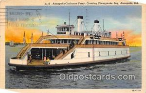 Annapolis Claiborne Ferry Annapolis, MD USA Ship Postcard Post Card Annapolis...