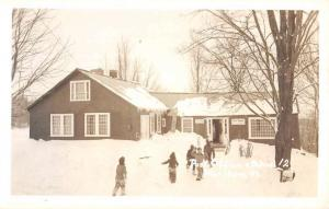 Marlboro Vermont Post Office Snow Scene Real Photo Antique Postcard K69470