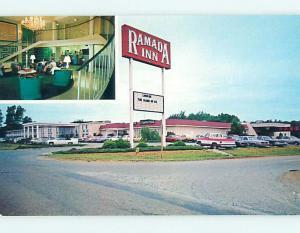 Pre-1980 OLD CARS & RAMADA INN MOTEL Burlington North Carolina NC r1075