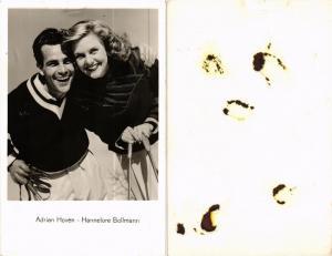 CPA AK HANNELORE BOLLMANN ADRIAN HOVEN Film Star (568967)