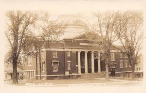 Shenandoah IA Presbyterian Church~Dome & Four Ionic Columns RPPC 1920s Postcard