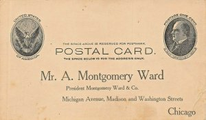 MR A MONTGOMERY WARD-APPLICATION FOR CATALOGUE BUYERS GUIDE 73 POSTCARD